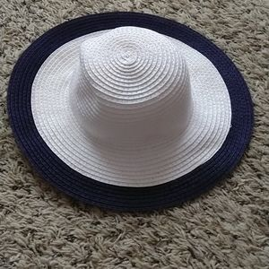 Janie and Jack tipped straw hat